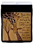 Giraffe Bible Verse Duvet Cover