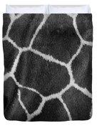 Giraffe Black And White Duvet Cover
