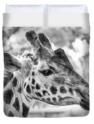 Giraffe Bw Duvet Cover