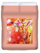 Giraffe Delightful Deborah Duvet Cover