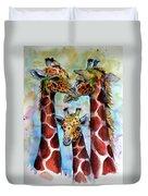 Giraffe Family Duvet Cover