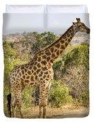 Giraffe Grazing Duvet Cover