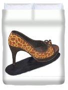 Giraffe Heels Duvet Cover