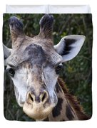 Giraffe Looking At You Duvet Cover