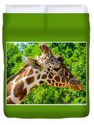 Giraffe Profile Duvet Cover