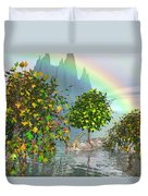 Giraffe Rainbow Heaven Duvet Cover