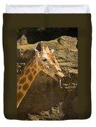 Giraffe Raspberry Duvet Cover