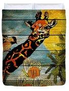 Giraffe Rustic Duvet Cover