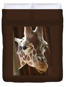 Giraffe Taking A Peek Duvet Cover