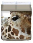 Giraffe Up Close Duvet Cover