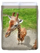 Giraffe's Point Of View Duvet Cover by Michael Garyet