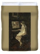 Girl At The Piano Duvet Cover