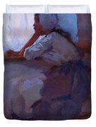 Girl At The Window 1885 Duvet Cover