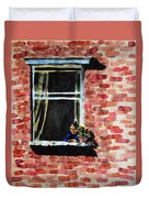 Girl At Window Duvet Cover