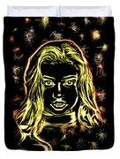 Girl Fireworks Duvet Cover