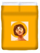 Girl From The Sun Duvet Cover