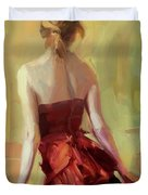 Girl In A Copper Dress I Duvet Cover