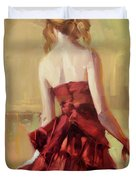 Girl In A Copper Dress II Duvet Cover