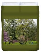 Girl In The Meadow Duvet Cover