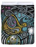 Girl In The Moon Duvet Cover