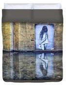 Girl In The Mural Duvet Cover