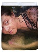 Girl In The Pool 13 Duvet Cover