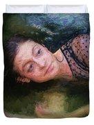 Girl In The Pool 15 Duvet Cover