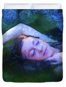 Girl In The Pool 20 Duvet Cover
