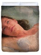 Girl In The Pool 8 Duvet Cover