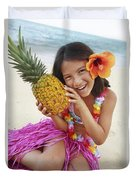 Girl In Tropical Paradise Duvet Cover by Brandon Tabiolo - Printscapes