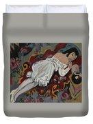 Girl In White Chemise Duvet Cover