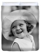 Girl In Wide Brimmed Hat, C.1930s Duvet Cover
