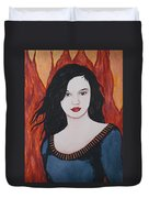 Girl Of Fire Duvet Cover