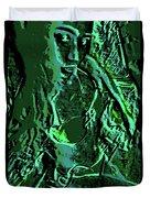Girl Of Green Duvet Cover