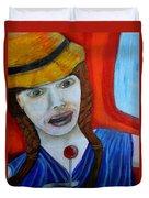Girl On A Train Duvet Cover