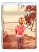 Girl On Redcliffe Travel Holiday Duvet Cover