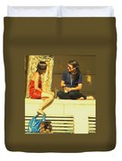 Girl Talk Duvet Cover
