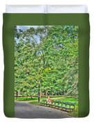 Girl Uninterrupted In Central Park Duvet Cover