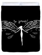 Girl With Angel Wings Duvet Cover
