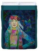 Girl With Kaleidoscope Eyes Duvet Cover