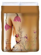 Girl With Spring Tattoo Duvet Cover