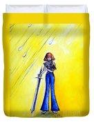 Girl With Sword. Astral Traveler Duvet Cover