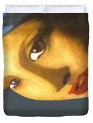 Girl With The Pearl Earring Side Duvet Cover