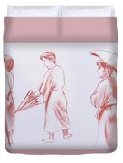 Girl With Umbrella 3 Duvet Cover