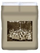 Girls  Doing The Maypole Dance Pacific Grove Circa 1890 Duvet Cover