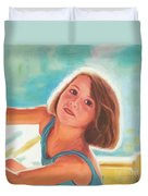 Girl's Portrait Duvet Cover