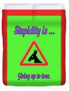 Giving Up Bigstock Donkey 171252860 Duvet Cover