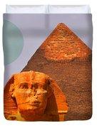 Giza Sphinx 2 Duvet Cover