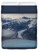 Glacial Curves Duvet Cover by Mike Reid