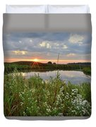 Glacial Park Sunrise On The Nippersink Duvet Cover